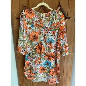 Anthropologie Fig and Flower floral tunic dress